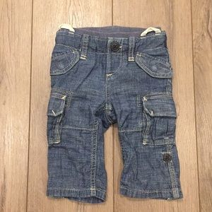 GAP Chambray Jeans Transitional Pull On Waist 3-6M